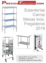Catálogo estanterias, carros, mesas inoxidables, fregaderos hostelería y cocina