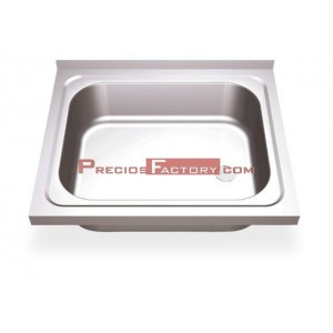 Fregadero c ptas abatibles 1c 450x450x850 mm for Medidas fregadero 1 seno