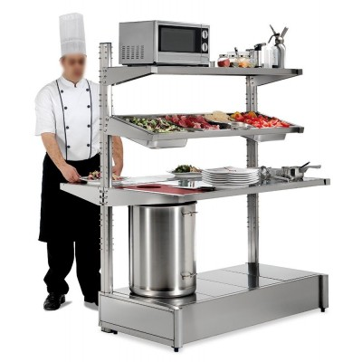 Mesa inox central de emplatado Imagine