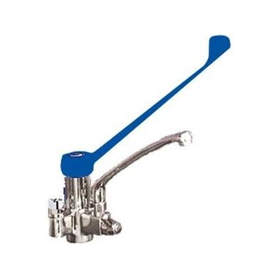 Válvula sobremesa de codo con caño incorporado dos aguas 462406