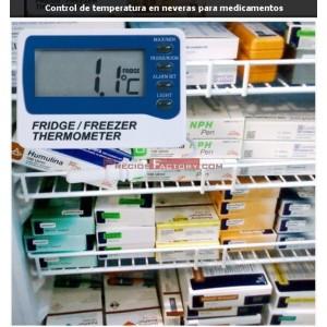 TERMOMETRO PARA FRIGORIFICOS CON MAXIMO Y MINIMO