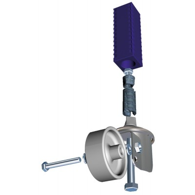Kit de acoplamiento de rueda a pata de 40x40 mm