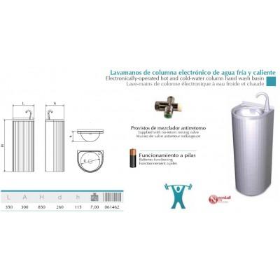 Lavamanos inox de columna electrónico reforzado