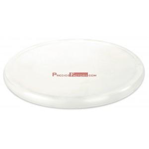 Plato giratorio de polietileno blanco