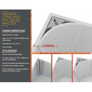 PERFIL SANITARIO PVC/PVC BASE MACIZA 300 cm.