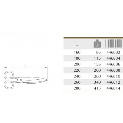 Tijeras pescadero en acero inoxidable AISI 304