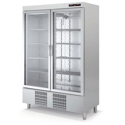 Armario frigorífico Docriluc inoxidable. Puertas cristal