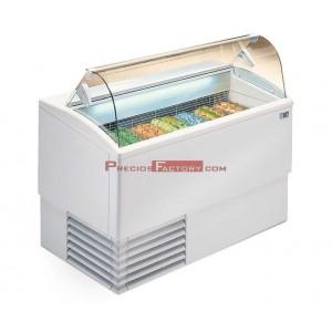 Vitrina helados Isetta TP. Cristal curvo
