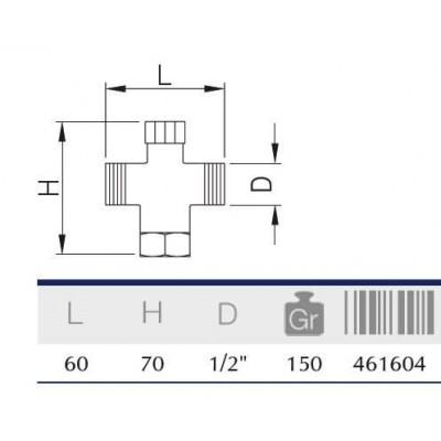 MEZCLADOR ANTIRRETORNO M-H-M 1/2.