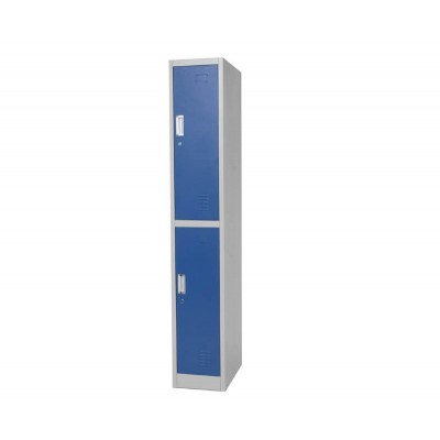 Taquilla vestuario gris y puerta azul. 1 o 2 puertas