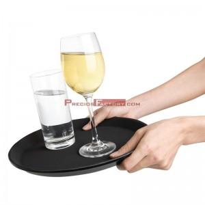 Bandeja camarero fibra vidrio redonda antideslizante Kristallon