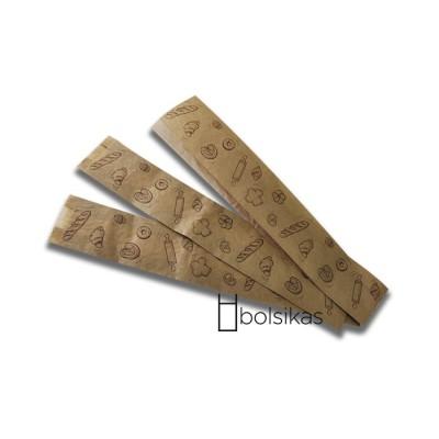 Bolsa de papel kraft baguette 9+5x51cm 1000 ud