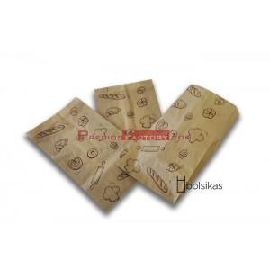 Bolsa de papel kraft para pastelería 14+6x26cm, 1000 ud
