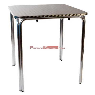 Mesa aluminio doble tubo 70x70 cm