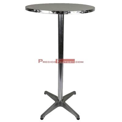Mesa alta de aluminio redonda