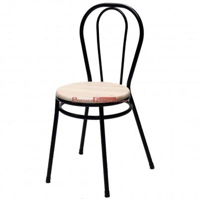 Silla Bistrot asiento MDF wengue, nogal o roble claro