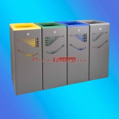 Módulo metálico papelera selectiva reciclaje Jofel