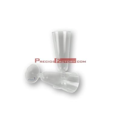 Copa de cava o champagne 100 cc de plástico transparente cristal rígido. 150 ud