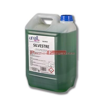 Limpiador todo tipo de suelos, sanitarios y zonas esmaltadas. Aroma pino/bosque de alta concentración. Garrafa de 5 litros.