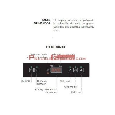 Lavavasos SMEG UG401 cesta 400x400 mm. Electrónico.