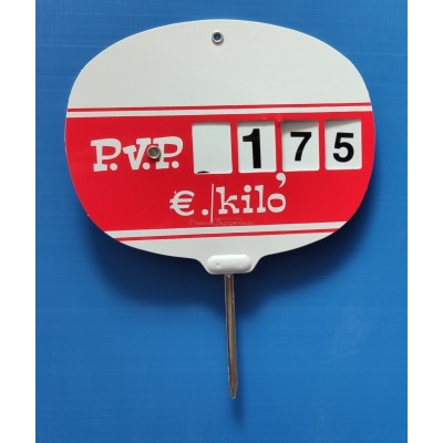Portaprecios ruleta PVC 95x75 mm