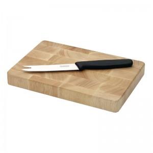 Tabla de cortar de madera rectangular 230 x 150mm Vogue. 7 ud. c461