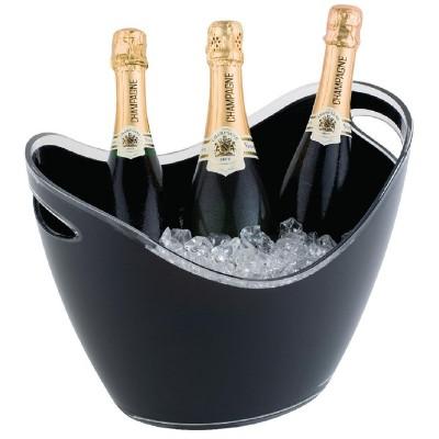 Bol para vino y champan acrilico negro Grande cf311