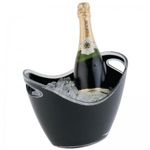 Bol para vino y champan acrilico negro Pequeño cf312