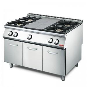 Cocina a gas Gastro M 4 quemadores y placa VS70/120TPPCG2 gn084