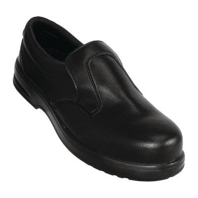 Zapatos de seguridad negros y sin cordones Lites 44 a845-44