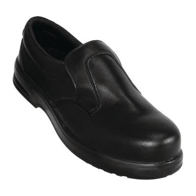 Zapatos de seguridad negros y sin cordones Lites 46 a845-46