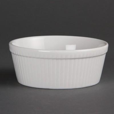Plato para tarta redondo blanco Olympia. 6 ud. c042