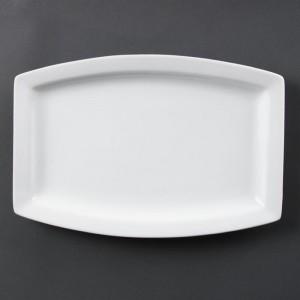 Plato rectangular blanco Olympia. 6 ud. c361