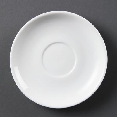 Platos apilables blancos Olympia. 12 ud. cb468