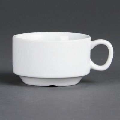 Taza espresso apilable blanca Olympia. 12 ud. cb471