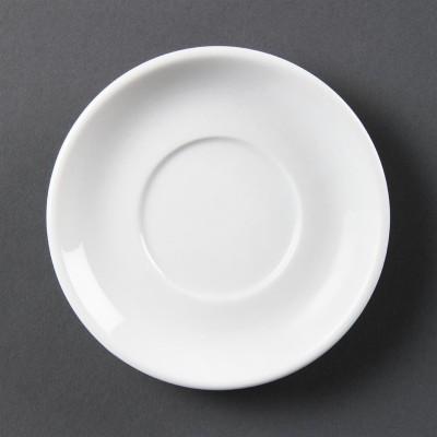 Plato de taza espresso apilable blanco Olympia. 12 ud. cb472