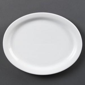 Fuentes ovaladas blancas 250mm Olympia cb477