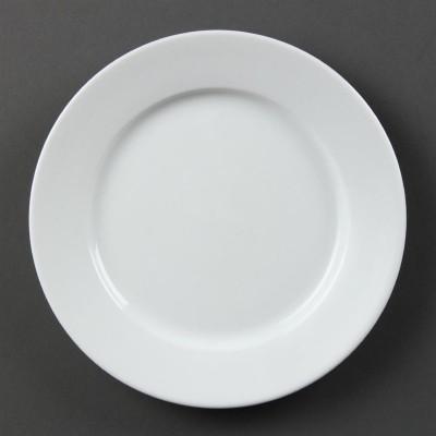 Platos con borde ancho blancos 200mm Olympia. 12 ud. cb479