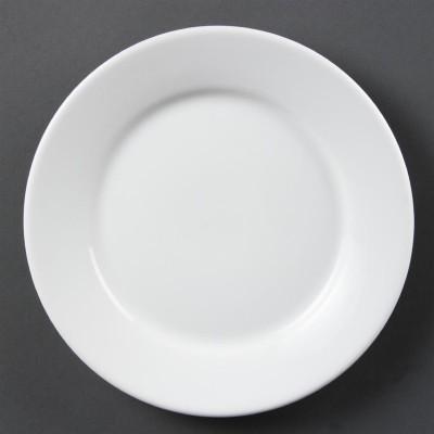 Platos con borde ancho blancos 230mm Olympia. 12 ud. cb480