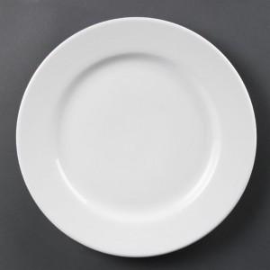 Platos con borde ancho blancos 310mm Olympia. 6 ud. cb483