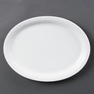 Fuentes ovaladas blancas 295mm Olympia cb484