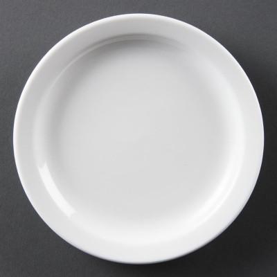 Platos con borde estrecho blancos 150mm Olympia. 12 ud. cb486