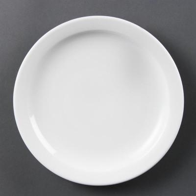 Platos con borde estrecho blancos 200mm Olympia. 12 ud. cb488