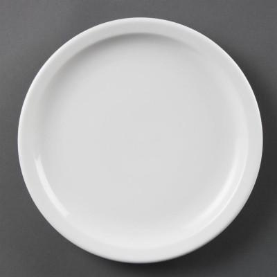 Platos con borde estrecho blancos 230mm Olympia. 12 ud. cb489