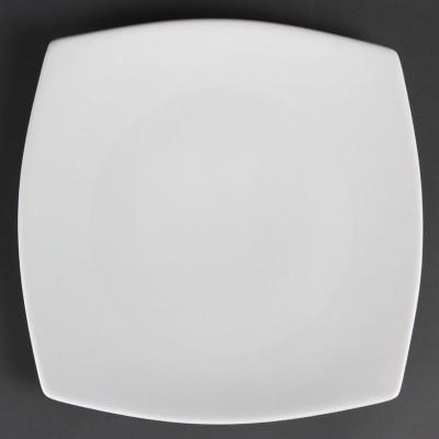 Platos cuadrados redondeados blancos 270mm Olympia cb493
