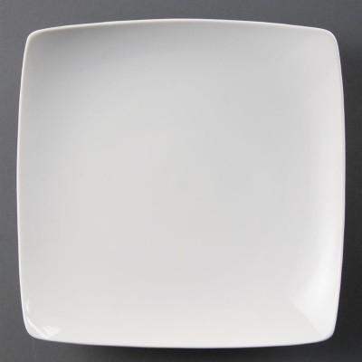 Platos cuadrados redondeados blancos 250mm Olympia. 4 ud. cb689
