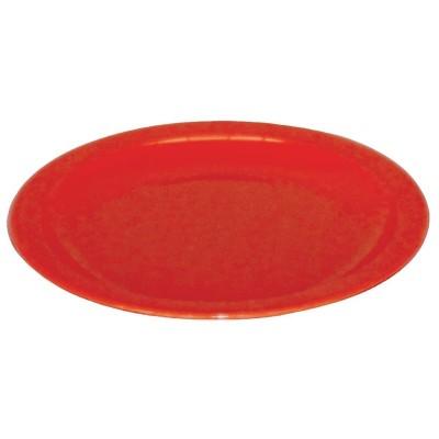 Plato de policarbonato rojo 172mm Kristallon. 12 ud. cb766
