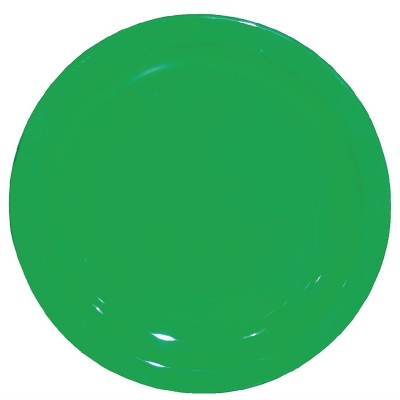 Plato de policarbonato verde 230mm Kristallon. 12 ud. cb768