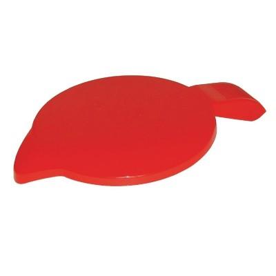 Tapa de policarbonato rojo Kristallon ce285