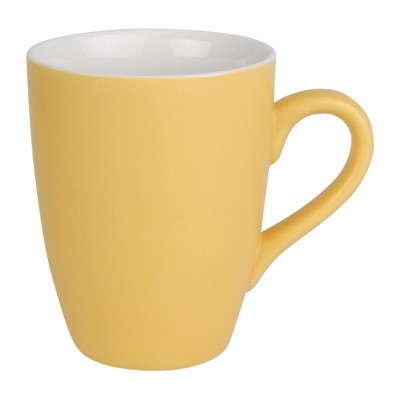 Taza mug Olympia porcelana amarillo pastel mate 320ml (Caja 6). 6 ud. cs040